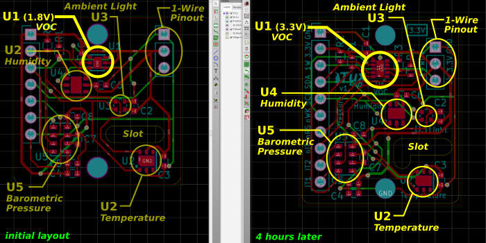 Envrionment Monitor KiCAD PCB Layout