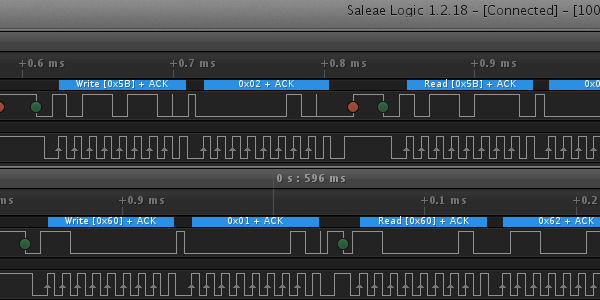 i2c debuggin with Saleae Logic Analyzer